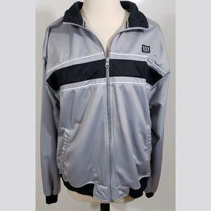 Wilson Track Jacket Gray & Black sz L